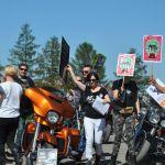 Rzeszów: W niedzielę protestowano przeciwko zwierzętom w cyrku. Dołączyli motocykliści [ZDJĘCIA]