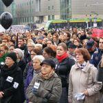 Czarny i biały protest w Poznaniu [ZDJĘCIA]