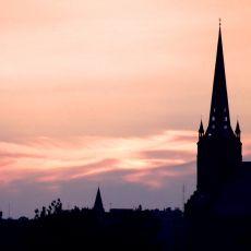 Różowy zachód słońca [ZDJĘCIE DNIA]