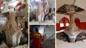 Katastrofa budowlana w Zamku Książąt Pomorskich w Szczecinie. Zawalił się strop [ZDJĘCIA, AUDIO, WIDEO NOWA TV 24 GODZINY]