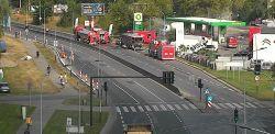 Kraków: Uwaga, poważna awaria na stacji benzynowej! Są utrudnienia w ruchu [ZDJĘCIA]