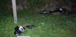 Kolejny koszmar z udziałem motocyklisty na Podkarpaciu: Stracił panowanie nad hondą i uderzył w skarpę [ZDJĘCIA]