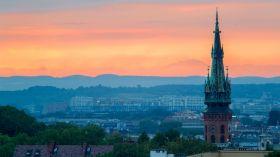 Zachód słońca nad Krakowem: Wyjątkowy kadr Daniela Szury!