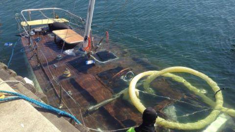 Znany jacht zatonął w marinie w Gdyni