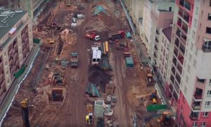 Tak wygląda budowa metra na Woli z lotu ptaka