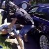 Spektakularne zatrzymanie mężczyzn, którzy nakłaniali świadków do zmiany zeznań [WIDEO, ZDJĘCIA] Policja apeluje o zgłaszanie się innych pokrzywdzonych