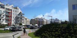 Pożar bloku w Gdyni! Jedna osoba została ranna [WIDEO]